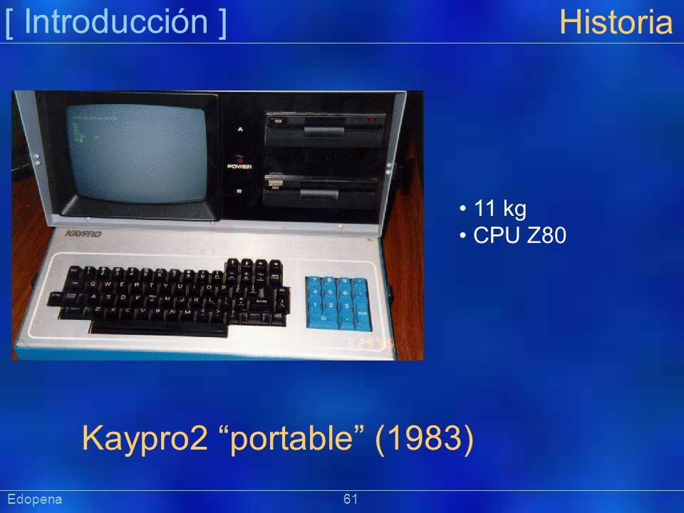 [ Introducción ] Historia Kaypro2 portable (1983) 11 kg CPU Z80